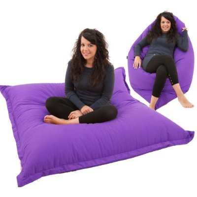 Giant Bean Bag Floor Cushion BeanBag Chair in PURPLE Water Resistant