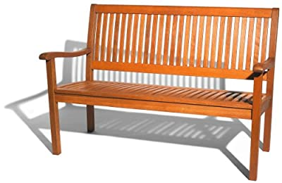 Strathwood Gartenmöbel - Basics Gartenbank aus wetterfestem Hartholz, 2-Sitzer
