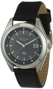 Regent Herren-Armbanduhr XL Analog Leder 11110519