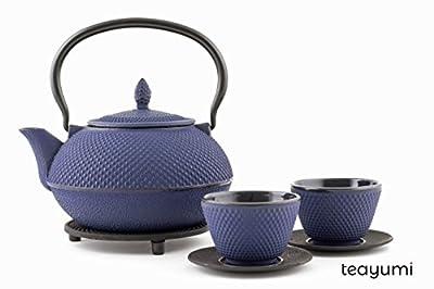 teayumi–Théière en fonte Arare Set 1,2L, bleu