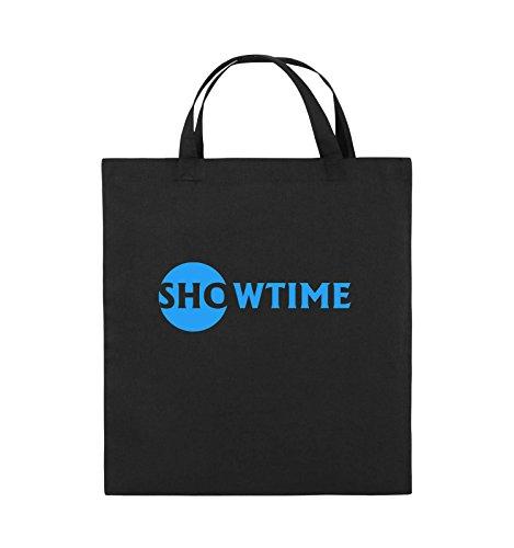 Borse Commedia - Showtime - Miliardi - Juta - Manico Corto - 38x42cm - Colore: Nero / Nero Argento / Blu