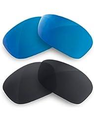 Sunglasses Restorer Lentes Polarizadas de Recambio Combo Black Iridium + Blue Mirror para oakley Hijinx