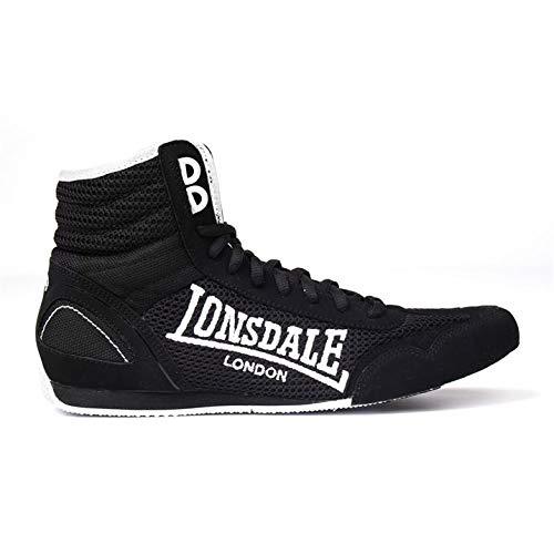 Lonsdale Kinder Contender Boxstiefel Schwarz/Weiß 38