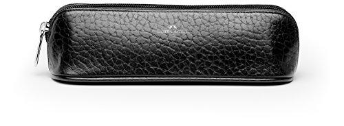 Faber-Castell – Estuche (tamaño pequeño, piel), color negro