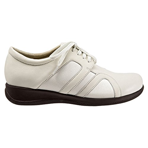 Softwalk Topeka étroit Cuir Baskets Off White