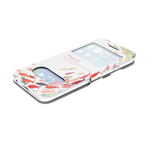 MOONCASE Coque en Cuir Housse de Protection Étui à rabat Case pour Apple iPhone 6 Plus A18152