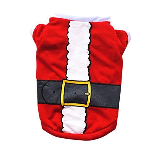 QPZYB Haustier-Hunde-Kleidung Weihnachtskostüm Cute Cartoon Kleidung für kleine Hund Cloth Kostüm Kleider Kleider Xmas Kleidung für Kitty Dogs XS/M @ L