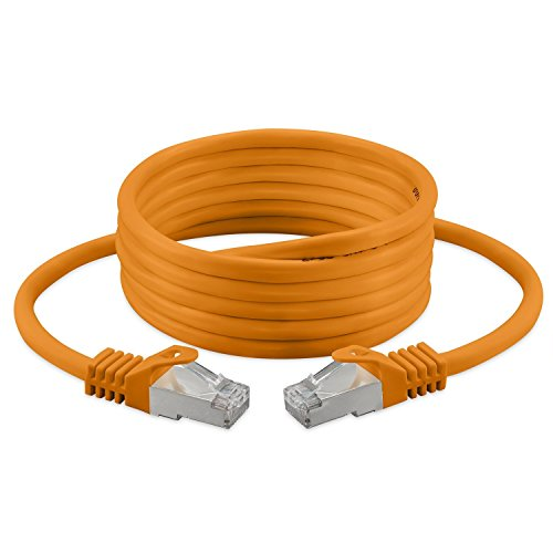 3m Ethernet Kabel, Cat, 7, S/FTP, PiMF, Halogen Free 600 MHz für Streaming/IPTV/Media Player/Sat-Receiver/Netzwerk-Server/Desktops PC/Super Fast Ethernet Kabel mit Gold Pin Steckern (Tester Rasenmäher)