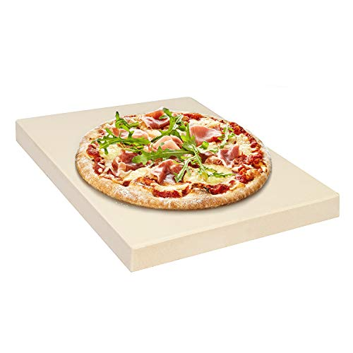 Rustler RS-4332 Pizzastein-/ Brotbackstein  für Backöfen, Holzkohle- und Gasgrills geeignet, 31,5 x 25,5 x 3 cm