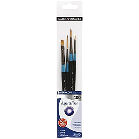 Set di 4 pennelli per acquerello - Aquafine 400 di Daler Rowney - qualità e praticità a prezzo imbattibile
