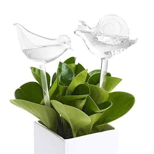 Globos de Riego Automatico (Juego de 2) Bolas de Riego en Forma de Pájaro y Forma de Caracol Sistema de Riego Automatico para Plantas en Macetas y Jardin