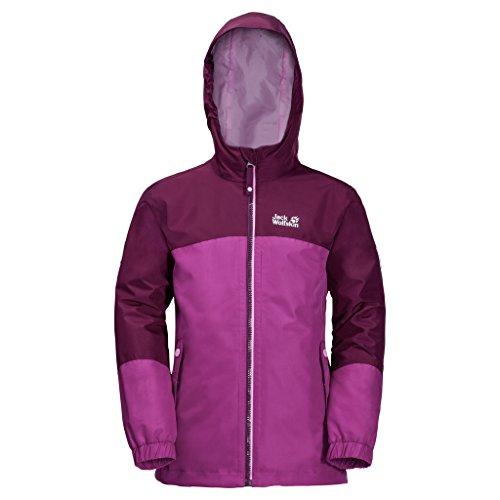 Jack Wolfskin G ICELAND 3IN1 JKT, wasser- und winddichte Outdoor Jacke, Winterjacke für Mädchen mit warmer Fleecejacke, robuste Regenjacke für Mädchen mit Reflektoren 1