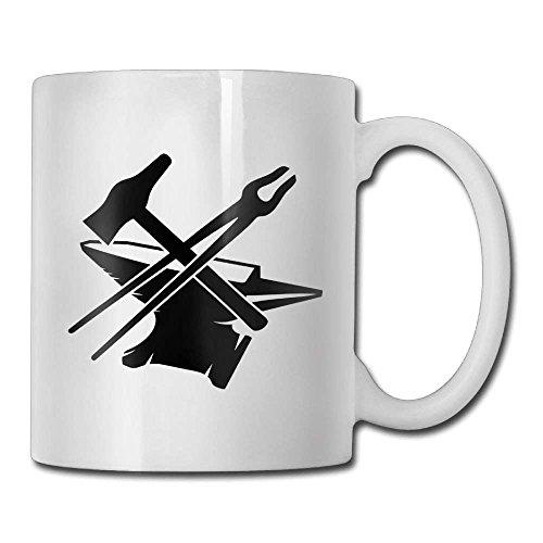 lilihome Black Anvil with Hammer And Tongs Custom Coffee Mug 11 Oz Ceramic Tea Cup