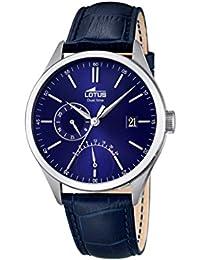 Lotus 18214/3 - Reloj de Pulsera para Hombre (Mecanismo de Cuarzo, Esfera analógica Color Azul y Correa de Caucho Color Negro)