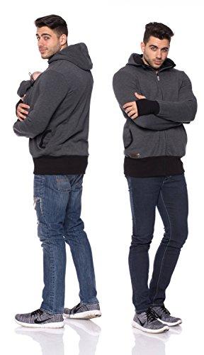 Milchshake - Tragejacke für Männer, Papa + Baby Jacke, CarryMe Anthrazit