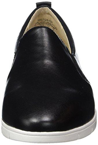 Caprice 24667, Mocassini Donna Nero (Black Nappa)