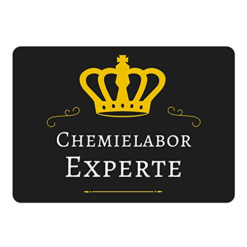 Mousepad Chemielabor Experte schwarz