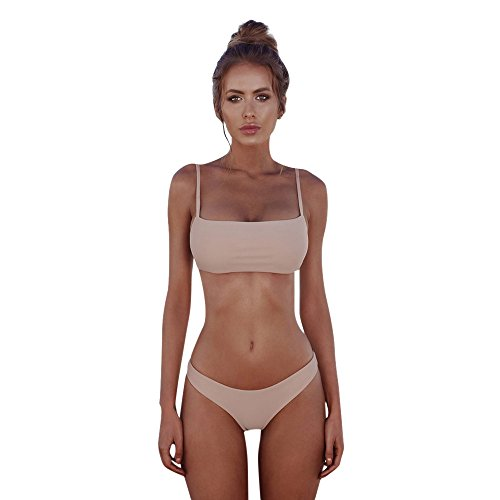 Beonzale 2019 Summer Damen Bikini Günstig Women Bandeau Bandage Bikini Set Push-Up Brazilian Swimwear Swimsuit Beachwear