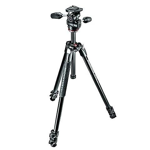 Manfrotto mk290X TA3–3W Digital/Film Kameras Schwarz Stativ–Stative (Aluminium, schwarz)