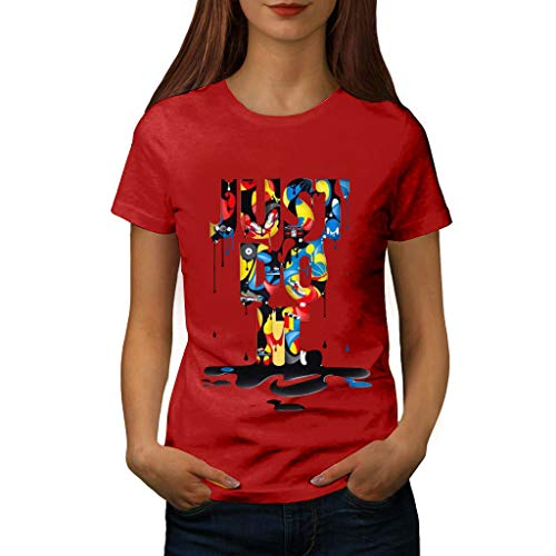 routinfly Frauen Kurzarm T-Shirt,T-Shirt mit Lässiges T-Shirt Bluse Tops Buntes Muster Bedrucktes Kurzarm-T-Shirt Plus Size Print