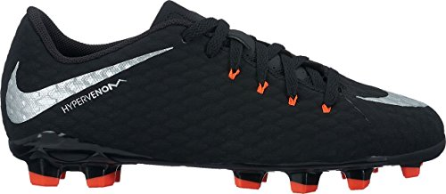 Nike Unisex-Kinder Hypervenom Phinish Ii Fg Fußballschuhe BLACK/METALLIC SILVER-BLAC