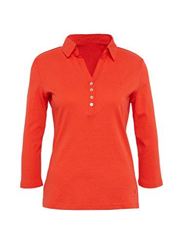 TOM TAILOR Damen Poloshirt Solid Polo Shirt grenadine red