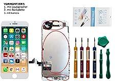 GIKEB Ersatzdisplay für iPhone 7 Plus VORMONTIERT   mit Kamera, Näherungssensor, Lautsprecher, Werkzeug und Folie   Komplettset   Deutscher Händler (iPhone 7 Plus, weiß)