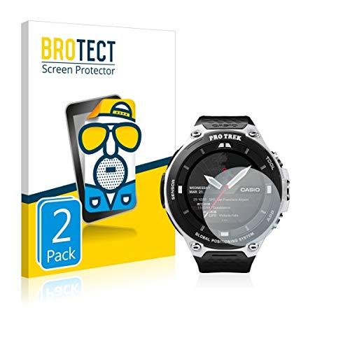 2X BROTECT Matt Bildschirmschutz Schutzfolie für Casio Pro Trek Smart WSD-F20 (matt - entspiegelt, Kratzfest, schmutzabweisend)