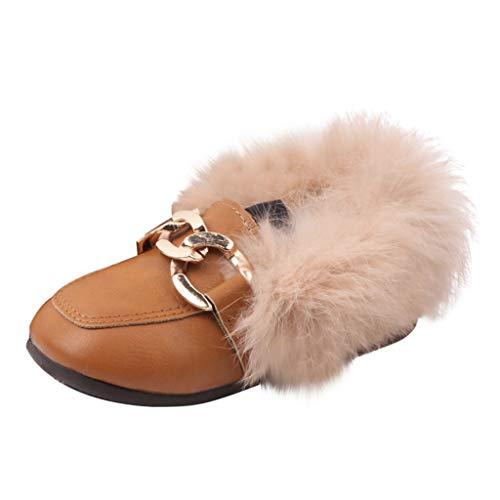 Lenfesh Kinderschuhe Mädchen Babyschuhe Leder Kleinkind Kinder Baby Jungen Mädchen Casual Winter Warm Pelzigen Haarigen Schuhe Stiefel warme Schuhe