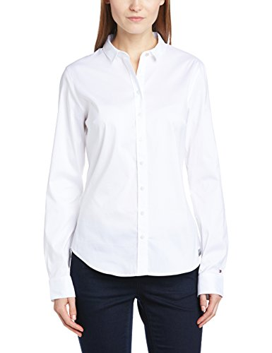 Tommy Hilfiger, Blouse Femme Blanc (Classic White 100)