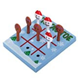 Christmas Tic Tac Toe Snowmen & Gingerbread Men Peg Game