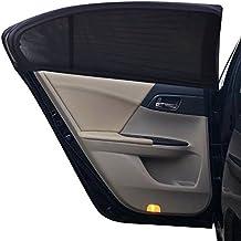 Homgaty - 2 parasoles para coche de malla para ventanas laterales y traseras, máxima protección UV para bebés, niños, perros y niños (L)