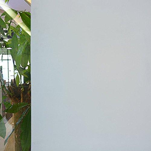 TECKWRAP Prämie Nein-Kleben 3D Statisch Dekorative Privatsphäre Fenster Film Weiß Mattiert 3ft X 6.5ft (90 x 200cm)