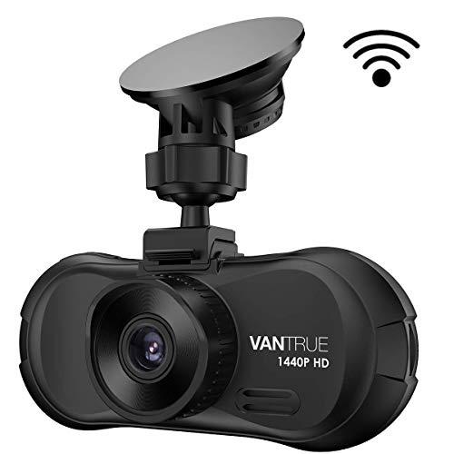 """VANTRUE X3 WiFi 1440P Dashcam Super HD Auto Kamera mit APP, Full HD 1080P Autokamera HDR Nachtsicht Dash Cam für KFZ LKW, 160° 2.7\"""" Car Camera G Sensor Parküberwachung Daueraufnahme Unterstützt 256GB"""