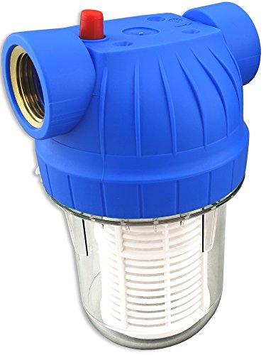 """Wasserfilter 5Zoll Anschluss 1\"""" IG für Hauswasserwerke Hochdruckreiniger Gartenpumpen inkl. Filtereinsatz, Zubehör"""