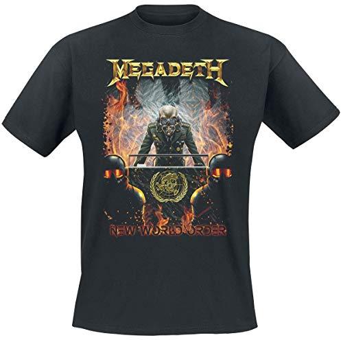 Megadeth New World Order Camiseta Negro M