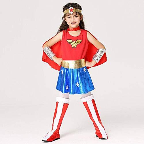 QWE Halloween Kostüme Performance Kleidung Kinderanzug Cosplay göttliche weibliche Superman - Superman Weibliche Kostüm