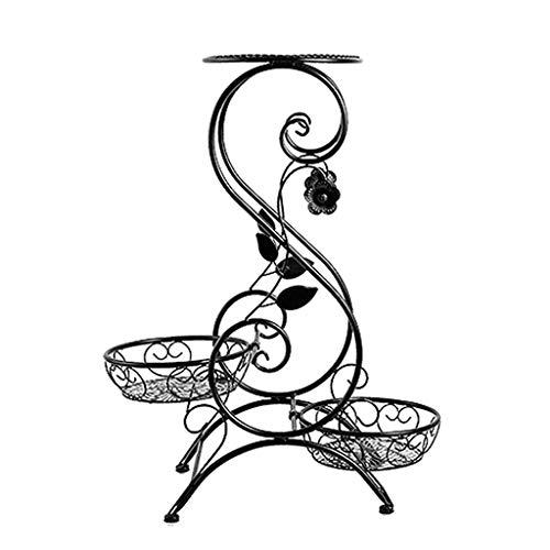 X_love fioriera/balcone / multistrato/ferro battuto/appeso ravanello orchidea verde/in vaso/portapantaloni da pavimento/soggiorno / portavasi/set di fioriera / (50cm * 24cm * 66cm / nero