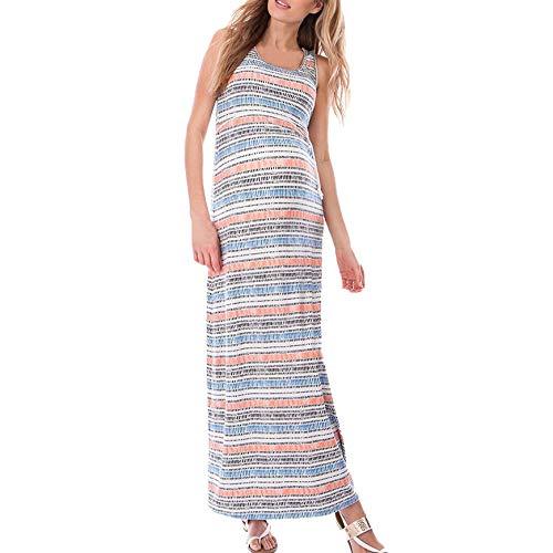 Likecrazy Umstandsmode Kleid Damen Umstandskleid Ärmelloses Schwangerschaft Kleid V-Ausschnitt...