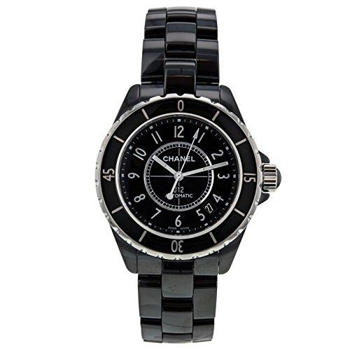 Chanel J12h0685schwarz Keramik & Edelstahl 38mm Automatische Damen Armbanduhr