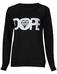Frauen dopen Pullover (womens dope sweater) (36/38 (sm), schwarz - black)