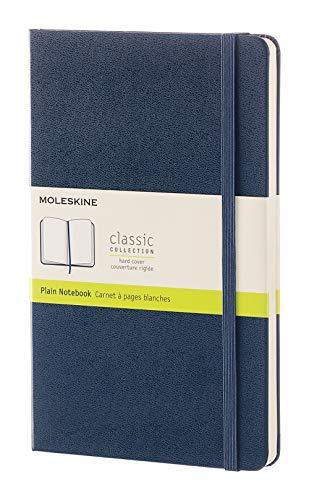 Moleskine Notizbuch, Groß, A5, Blanko, Hard Cover, saphir