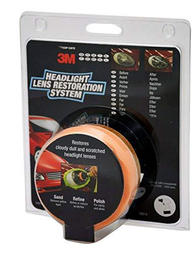 3M Scheinwerfer-Restoration-Kit - Polieren Sie Ihre Scheinwerfer oder Linsen mit einem Bohrer - UK
