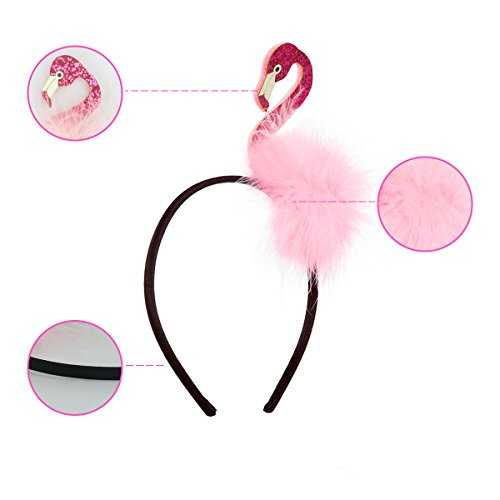 Niedliches Flamingo-Stirnband-Mode-Haar-Band-Hawaiianer-themenorientiertes Haar-Rosa