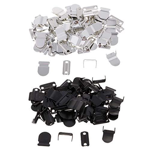 perfk 40 Metallhaken Hosenhaken Ösen zum annähen Hose Kleidung Näharbeit Hakenknöpfe DIY