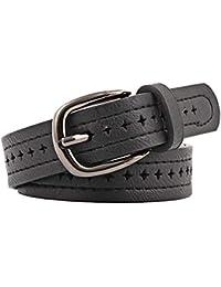 Emorias 1 Pcs Cinturon Cuero Mujer Moda Correas Niña Vaqueros Vestido Ropa Accesorios - Negro