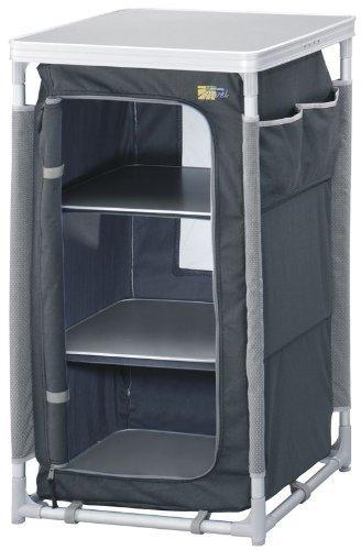Preisvergleich Produktbild Campingschrank grau 57x47x97cm (klein faltbar,  klappbar,  ideal zum Campen oder fürs Vorzelt)