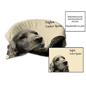 114cmx78.7cm Englisch cocker spaniel Design fleece Hundebett Schutz Decke / Werfen Haustier Sitzschutz - Creme