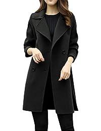 Donne-Mondo Donna Lunga Cappotto Autunno Lungo Cappotto Eleganti Giacche  Manica Lunga Cardigan Cappotto Parka Outwear a2014e34bfb