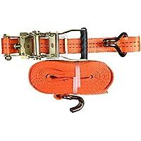 1x Spanngurt mit Ratsche 35mm/6 Meter LC 2000 kg,Spitzhaken,Zurrgurte,Gurt,Gepäckgurt,Ratschenspanngurt